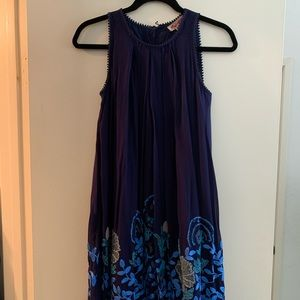Navy beaded Anthropologie dress